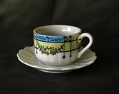 Flower Garland Tea Cup with Saucer