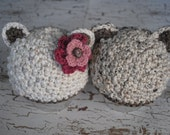 Baby Girl Bear Hats for Twins - Gender Neutral