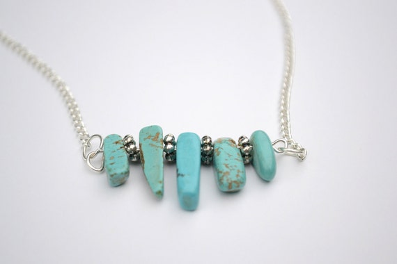 "SALE 18"" Turquoise Howlite Necklace"