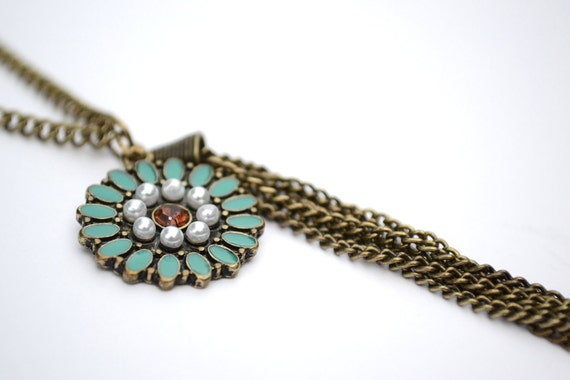 """SALE 30"""" Flower and Tassel Necklace"""