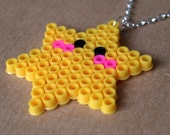 SALE Cute Kawaii Star Pixel Hama Bead Necklace