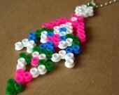 Pixel Tribal Inspired Hama Bead Necklace