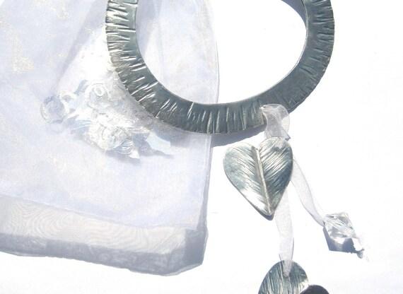 Handmade, Forged Aluminum, Lucky Wedding Horseshoe, Decorative gift, keepsake for the bride.