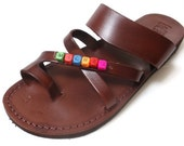 CUSTOMIZED SANDAL Your Name on Leather Sandal for Women and Men
