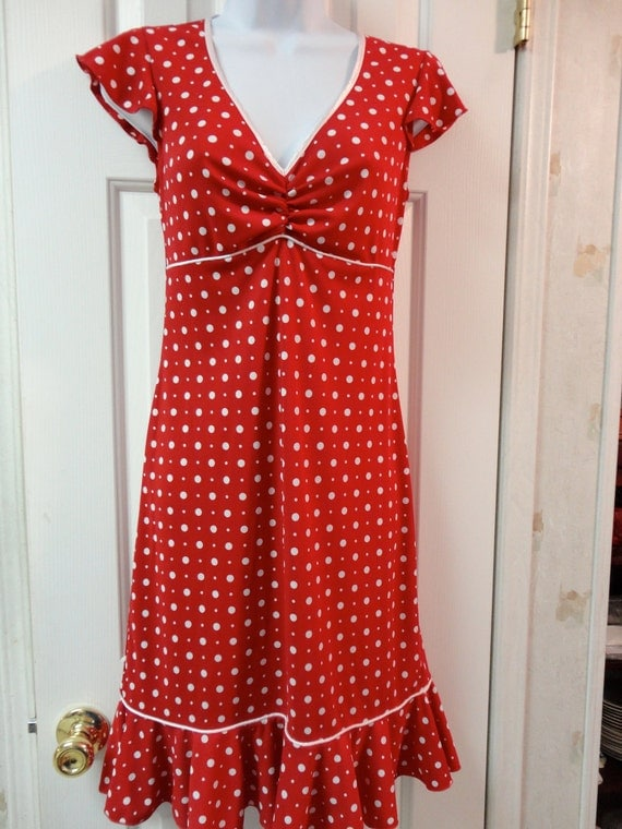 Red Polka Dotted Mod Dress