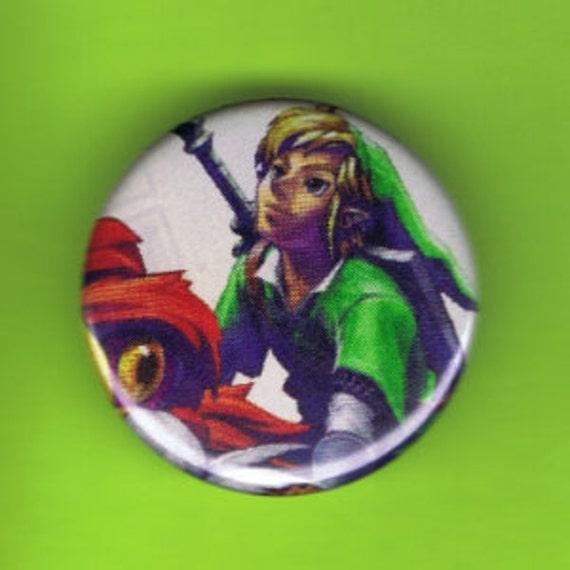"""1.25"""" Pin Back Button Link Legend of Zelda"""