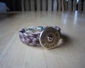 Western Horse Hair braided bracelet with shotgun shell concho