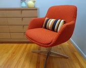 Vintage Overman type pod chair to be done in fabric of your choice