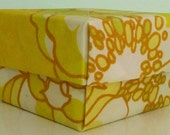 lidded gift treasure box (vintage fabric origami sunshine burst)