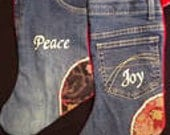 Up-Cycled Denim Jeans Christmas Stocking(s)