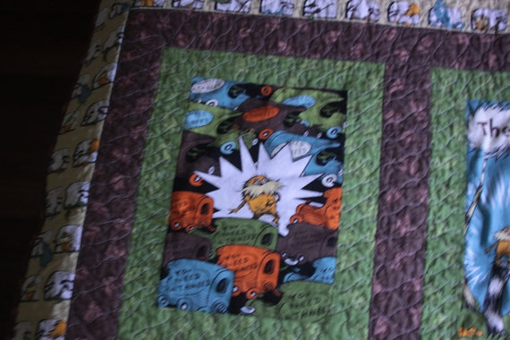 The Lorax Quilt and Pillow cover