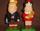 Hand Painted Figurines Little Lulu and Tubby Retro Decor