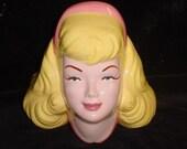 Barbie Pretty in Pink Princess Ceramic Head Vase