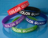 Color Guard Silicone Bracelets Color Guard, Flag Corps, Marching Band Sterling Silver Charm Color Guard Charms Color Guard Jewelry