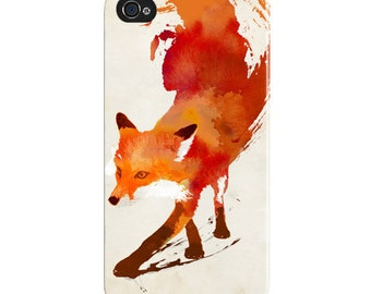 "iPhone 5/ 4s / Samsung s2 case / cover / shell  - ""Vulpes vulpes"" Wrap around tough case. Fox, abstract,"