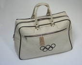 Vintage Official Olympic Sports Bag Holdall
