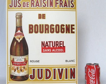 Authentic French Vintage Advertising sign from the 1950s-1960s, in perfect condition