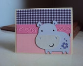 """Greeting Card """"Smiley Hippo"""""""