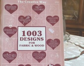 1003 Designs for Fabric and Wood  book by Jan Way