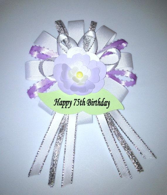 Items Similar To Birthday Ribbon Corsage Pin On Etsy