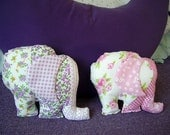 Sweet Elephant Little Cushion/Pillow Fabric 8' x 6' - (Made to order)