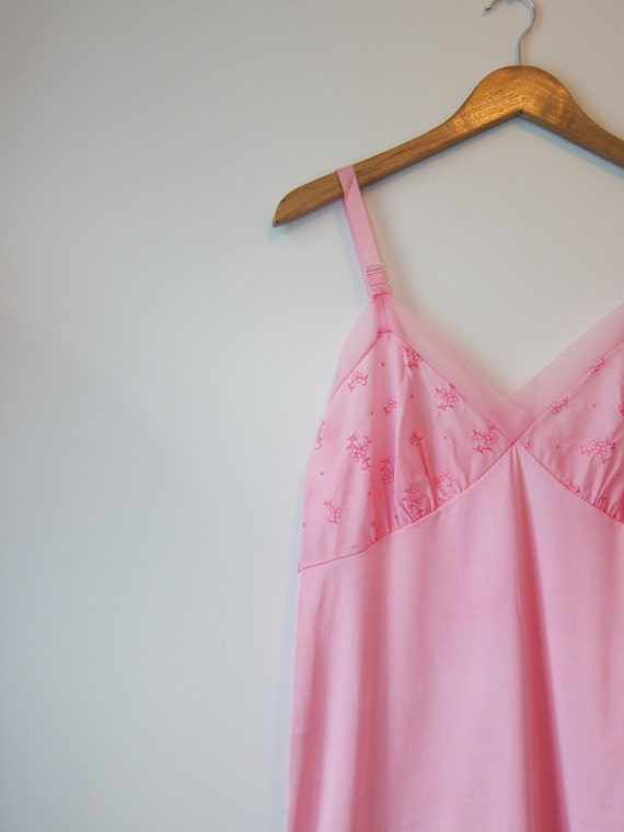 Full slip 40 petite 1950s vintage Aristocraft Hand dyed tourmaline hot pink