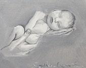 "FREE SHIPPING WORLDWILDE"""" baby original painting hand painted"