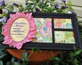 Floral embellished horizontal collage frame