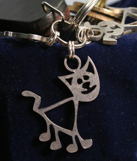 Fat Cat Key Chain Charm