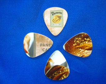 Upcycled Plastic Gift Cards Guitar Picks - Panera Bread 4 Pack