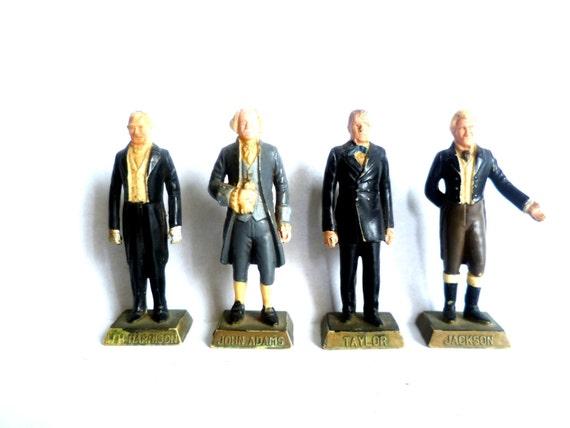 VINTAGE Marx Presidential Figurines/ Set of 4
