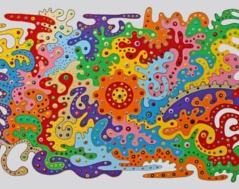 xxl abstrakt art painting 59 x 40 ( 150 x 100 cm)