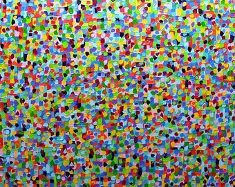 xxl large painting 55 x 40 art acrylic