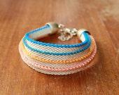 """Four coloured friendship"" Rainbow bracelet"