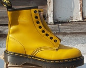 Yellow Doc Marten Boots