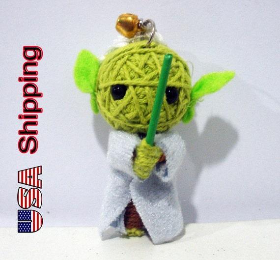 Yoda star war String doll Voodoo doll keychain FREE Shipping for USA