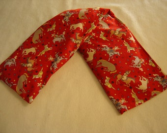 Red Bucking Bronco Print Neck Warmer Corn Cozie
