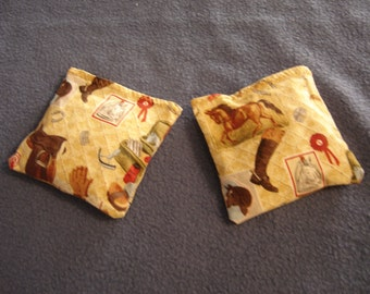 Horse Equipment Quilted Print Hand Warmers Corn Cozies