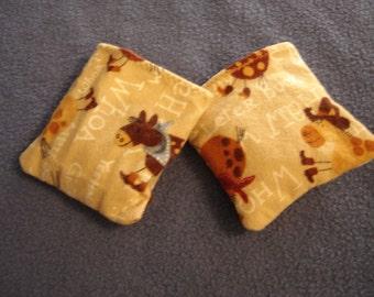 Yee Haw Flannel Horse Print Hand Warmer Corn Cozies