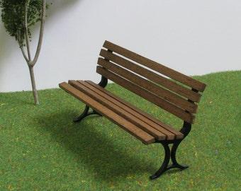 WOODEN BENCH 1:12 scale,Patio / Garden Furniture,DOLLHOUSE MIiniature,Hand made, Vintage