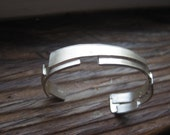 Women's Argentium Silver Cuff Bracelet Ancient and Modern