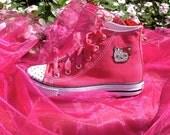 Tumeca Robinson 3 Pairs of Swarovski Designed Hello Kitty Tennis Shoes for Girls