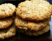 1 Dozen Crispy Oatmeal White Chocolate Cookies with Sea Salt