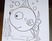 Paint By Number Kit For Kids-Bubbles Fish