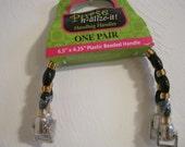 plastic Beaded purse handles ( set of 2)
