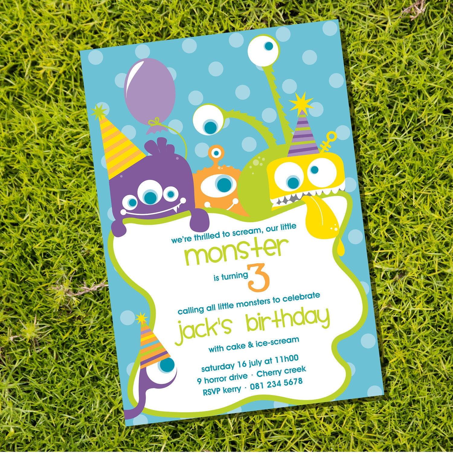 Monster Party Invitation Cute Monsters Invitation – Monster Party Invites