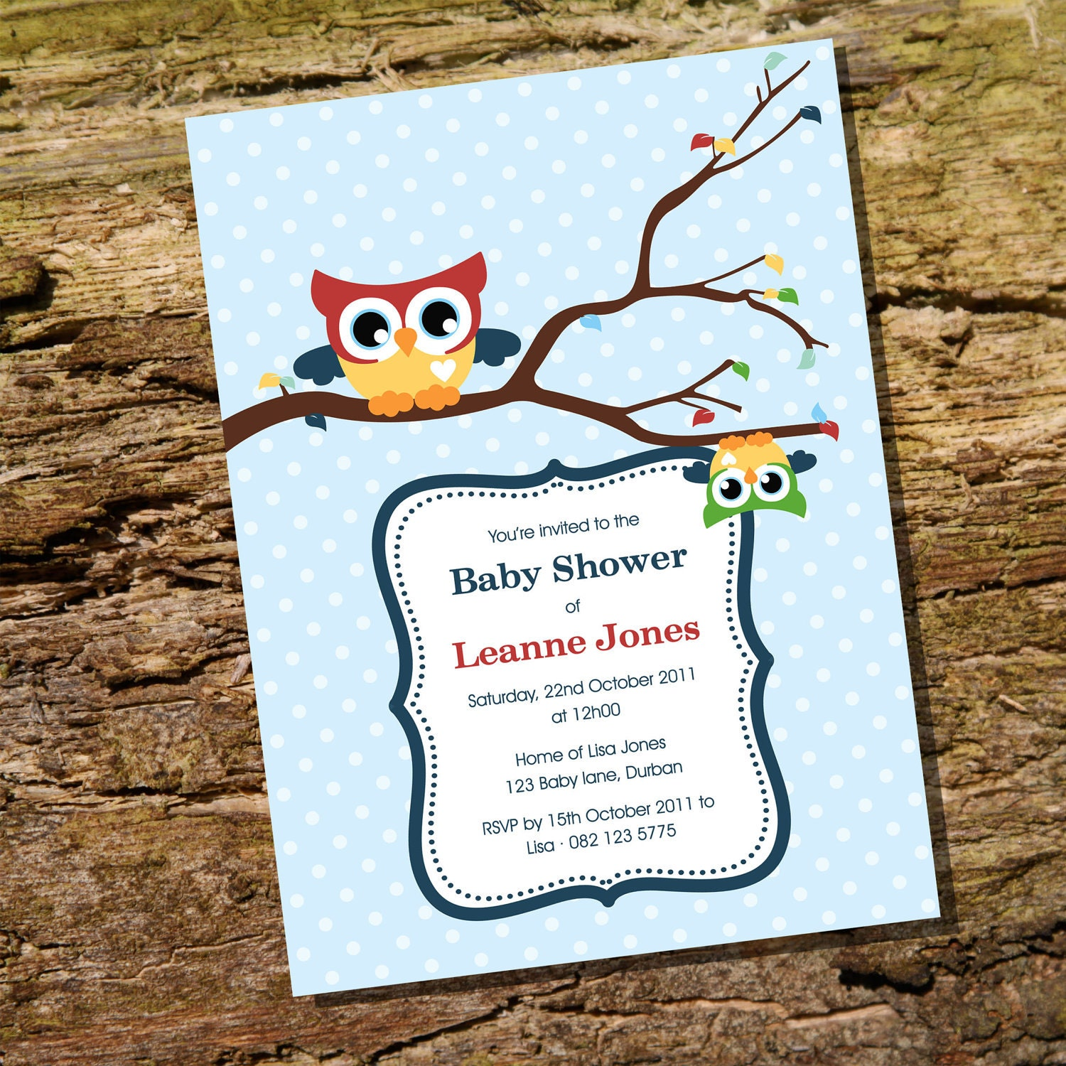 cute baby owl invitation for a boy baby shower nstantly