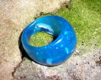 Beach House Blue Resin Ring