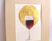 WIneglass Ikon (5x7) - Everyday Miracles Series - Limited Edition Gold foil print
