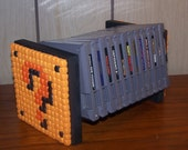 SALE Super Mario Bros. Question Block Nintendo Game/Book/CD Shelf